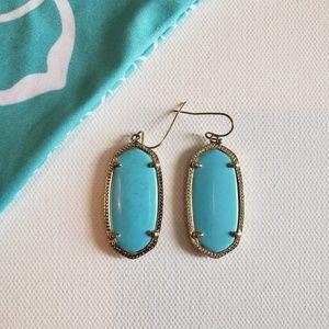 Kendra Scott Elle Drop Gold Earrings